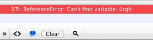 Javascript error - Doubleclick in coda preview