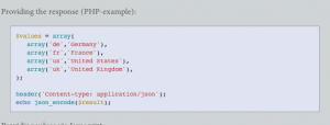 Example syntax highlighting