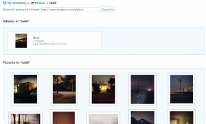 Dropbox photo gallery