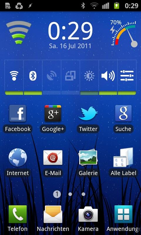 Galaxy SII Homescreen