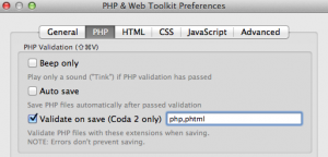 php validate on save: file extensions